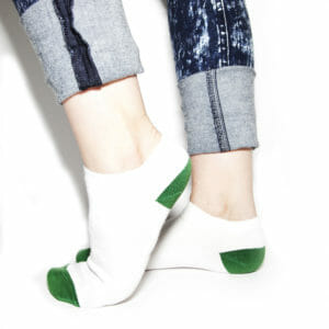 White bamboo ankle socks