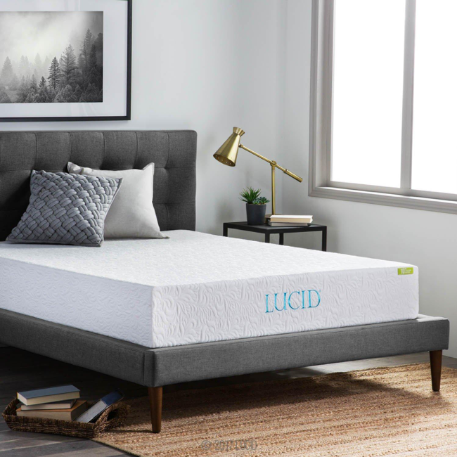 Lucid bamboo memory foam mattress