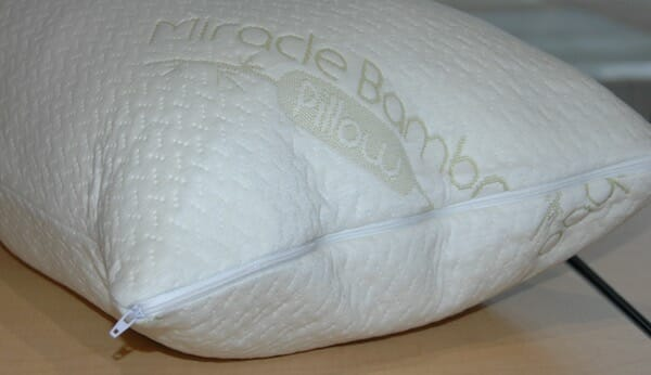 Miracle memory foam pillow with bamboo cover