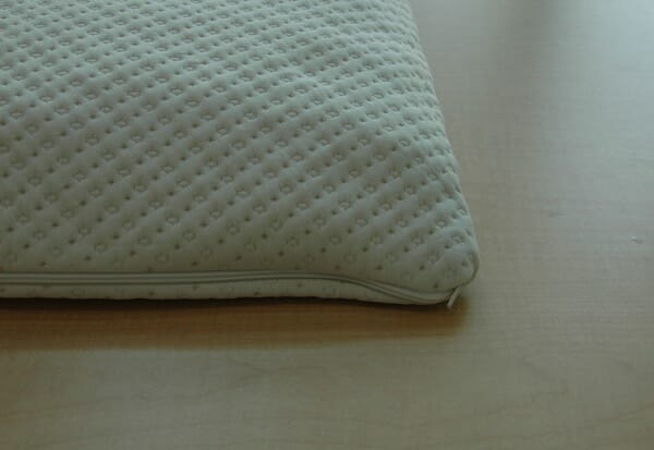Bamboo pillow with memory foam cover by Snuggle-pedic